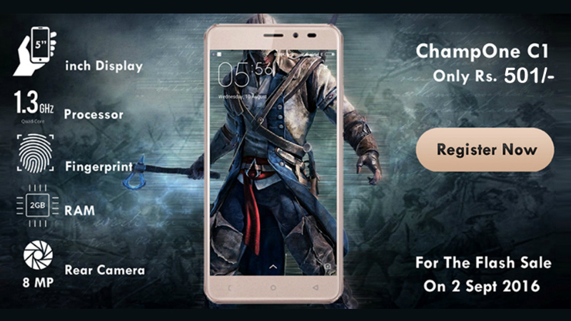 ChampOne C1 the New Freedom 251? All You Need to Know About Rs. 501 Smartphone