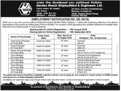 GRSE Recruitment 2016 Apply Online (21 Vacancies)