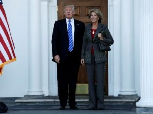 Donald Trump picks wealthy activist Betsy DeVos for education secretary